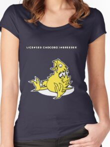 Licensed Chocobo Inbreeder Women's Fitted Scoop T-Shirt