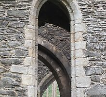 Valle Crucis Abbey Window by Yampimon