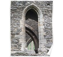 Valle Crucis Abbey Window Poster