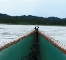 Bow of a Long Boat on the Napo River by rhamm