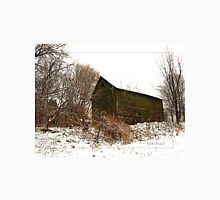 Green Barn in Winter Unisex T-Shirt