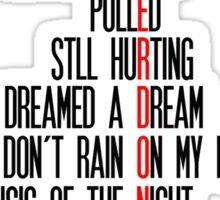 Overdone Broadway Songs Sticker