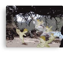 Baby Angels playing in the sand. Canvas Print