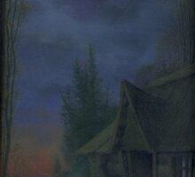 House at dusk by Aleksandr Yankovsky