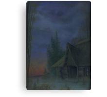 House at dusk Canvas Print