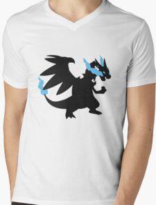 Mega Charizard X Mens V-Neck T-Shirt