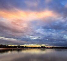 Painting with light on Lake Lanier by Bernd F. Laeschke