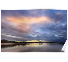 Painting with light on Lake Lanier Poster