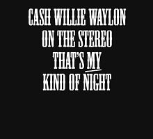 Cash Willie Waylon - That's My Kind of Night Womens Fitted T-Shirt