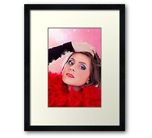 Beautiful Woman In Red Framed Print