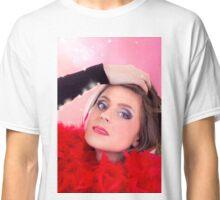 Beautiful Woman In Red Classic T-Shirt