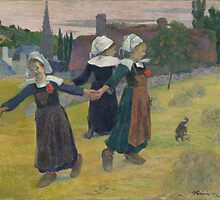 Breton Girls Dancing, Pont-Avent by malapipa