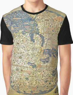 fra mauro medieval map Graphic T-Shirt