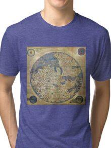 fra mauro medieval map Tri-blend T-Shirt