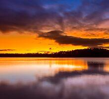 Lake Lanier Sunset II by Bernd F. Laeschke