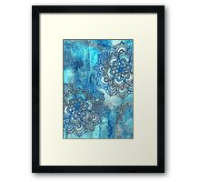 Lost in Blue - a daydream made visible Framed Print
