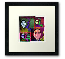 HP LOVECRAFT, AMERICAN GOTHIC WRITER, COLLAGE Framed Print