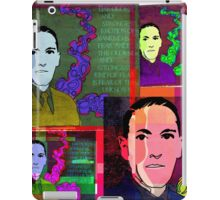 HP LOVECRAFT, AMERICAN GOTHIC WRITER, COLLAGE iPad Case/Skin
