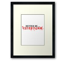 Gryffindor! Framed Print