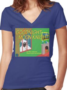 Goodnight Moon Knight Women's Fitted V-Neck T-Shirt