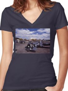 Eight Merlins @ Tyabb Airshow, Victoria, Australia 2004 Women's Fitted V-Neck T-Shirt