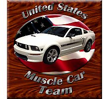 Ford Mustang GT Muscle Car Team Photographic Print