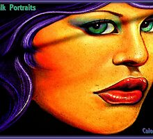 Chalk Portraits Calendar Cover by artisandelimage