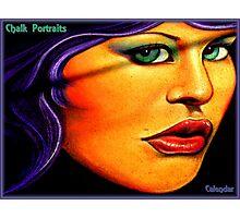 Chalk Portraits Calendar Cover Photographic Print