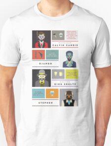 Django Unchained Characters Unisex T-Shirt