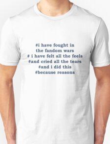 Fandom Wars Unisex T-Shirt