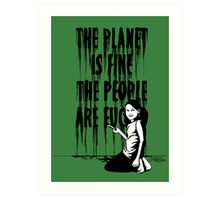 The planet is fine Art Print