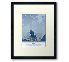 Jurassic Park Film Poster - feat Gennaro Framed Print