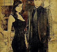 Clark and Lois (Tom Welling and Erica Durance) by aforceofnature