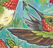 August Hummingbirds Sticker