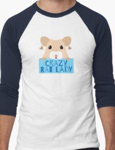 CUTE crazy rat lady (in cream colour) Men's Baseball ¾ T-Shirt
