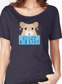 CUTE crazy rat lady (in cream colour) Women's Relaxed Fit T-Shirt