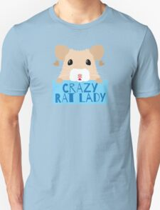 CUTE crazy rat lady (in cream colour) T-Shirt