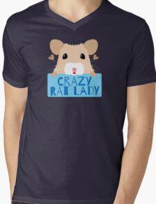 CUTE crazy rat lady (in cream colour) Mens V-Neck T-Shirt