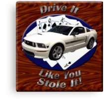 Ford Mustang GT Drive It Like You Stole It Canvas Print