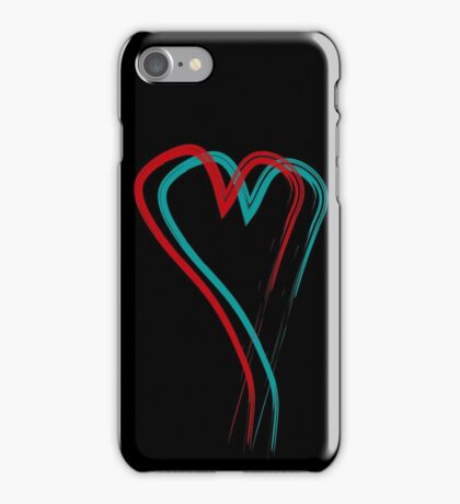 Double hearth line iPhone Case/Skin