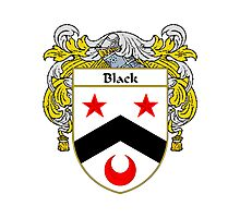 Black Coat of Arms/Family Crest Photographic Print
