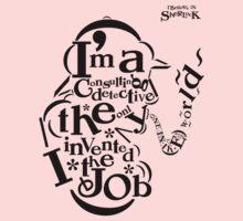 Sherlock Typography Kids Clothes