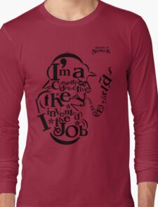Sherlock Typography Long Sleeve T-Shirt