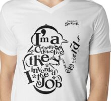 Sherlock Typography Mens V-Neck T-Shirt