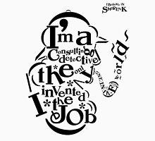 Sherlock Typography Mens V-Neck T-Shirt