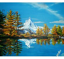 Matterhorn Mountain lake view Photographic Print