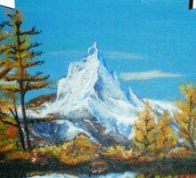 Matterhorn Mountain lake view Sticker