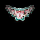Liverpool FC Crest On Black by Paul Madden