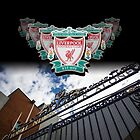 Liverpool FC Crest against a the Shankly Gates by Paul Madden