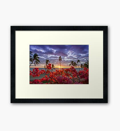 Coloured Sunsets Framed Print